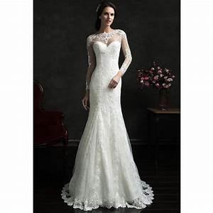 new designer mermaid wedding dresses 2016 sheer scoop neck With designer mermaid wedding dresses
