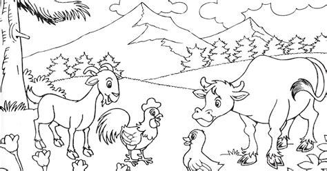 karikaturku indonesia latihan 2 mewarnai pemandangan alam