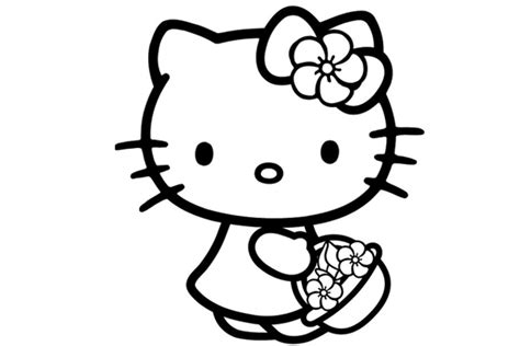 kitty coloring pages   kids