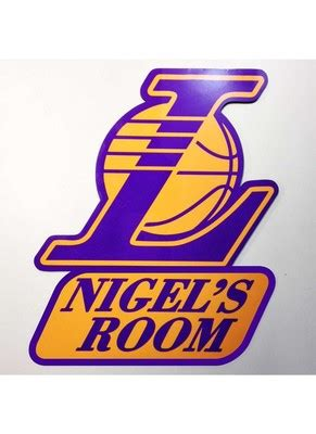 Personalised LA Lakers Kids Door Name plate by Engrave ...