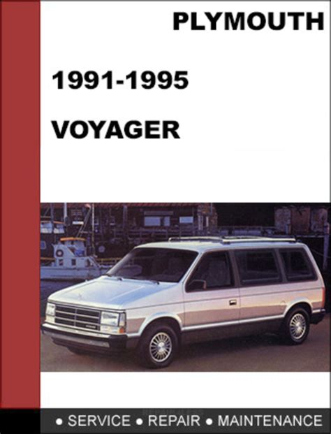 old car manuals online 1995 plymouth grand voyager user handbook plymouth voyager 1991 1995 factory service workshop repair manual