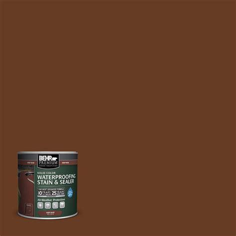 behr premium  oz sc chestnut solid color