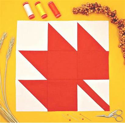 Leaf Maple Quilt Block Perfect Pattern Easy