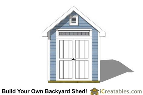 8x16 traditional backyard shed plans icreatables