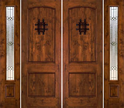 rustic double doors  sidelights rustic exterior doors