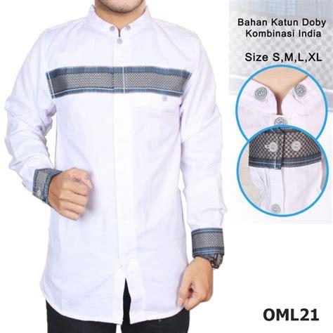 jual baju koko pria slim fit lengan panjang muslim modern oml21 di lapak cid shop