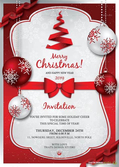 free christmas dinner invitations 21 christmas invitation templates free sample example