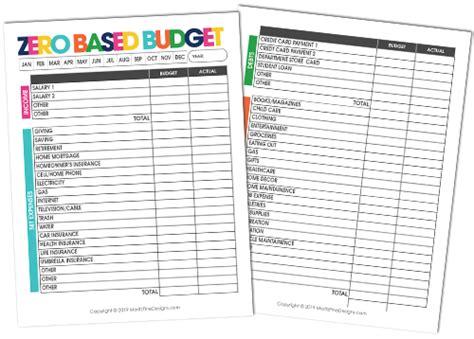 based budget  printable budgeting template