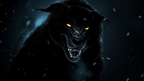 Angry Wolf Wallpaper Black by Black Wallpaper 62 Images