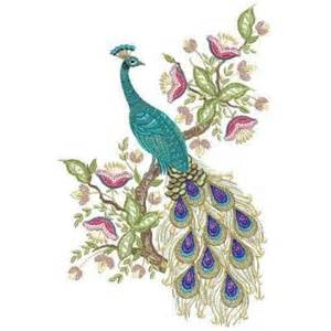 embroidery designs jacobean peacock embroidery designs