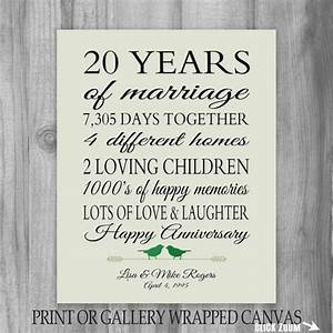 20th anniversary gift 20 year anniversary by printsbychristine With 20th wedding anniversary gift for husband