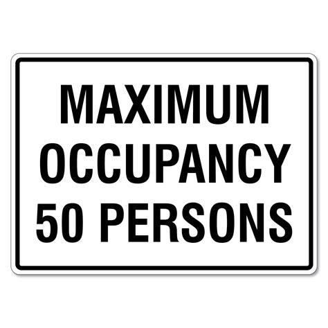 maximum occupancy  persons sign  signmaker