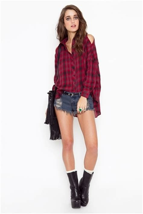 12 Best Images About Cute Cut Out Shoulder Flannels On