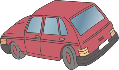 Red Car Hatchback Clip Art At Clker.com