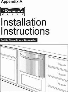 Kenmore Elite Dishwasher Manual L0703158