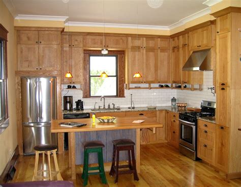 small contemporary rustic  shaped kitchen ideas