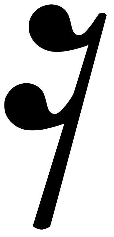 An eighth rest corresponds to an eighth note in length. File:16th rest.svg - Wikimedia Commons