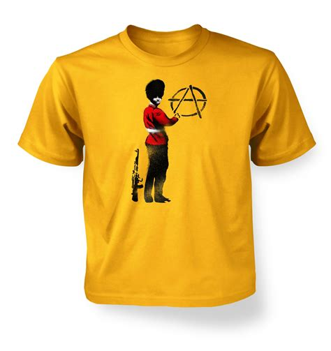 anarchist guard banksy t shirt banksy tshirts