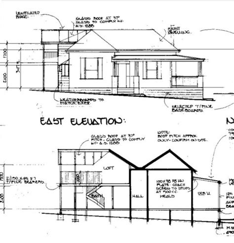 front  cottage elevation drawing