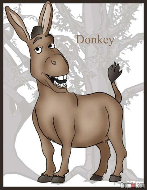donkey cartoon drawing