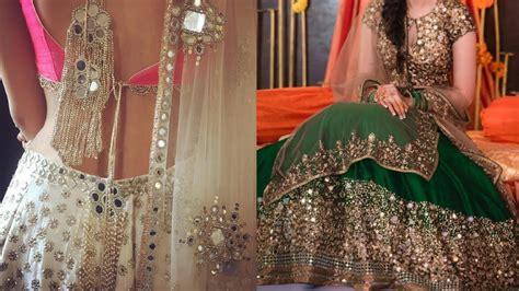 latest mirror work lehenga designs  indian wedding