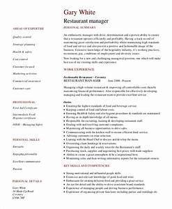 Restaurant Management Resume Examples Restaurant Manager Resume Template 10 Free Word Pdf