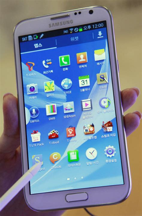 samsung galaxy note 2 the device to enter phablet