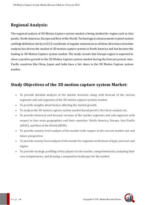 3D Motion Capture System Market 2017 Comprehensive