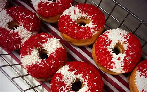 Tim Hortons shows its Canadian pride with a festive red and white Vanilla Dip donut   Inside Timmies