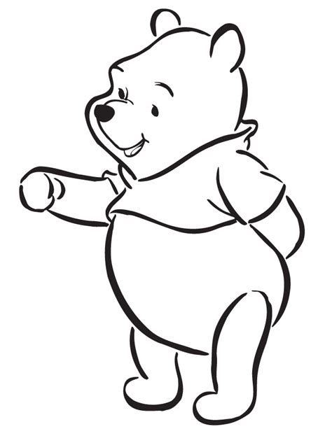 disneys winnie  pooh cartoon coloring page