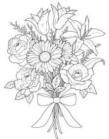 Flower Bouquet Coloring Book