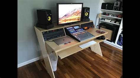 diy output platform desk  angled racks youtube