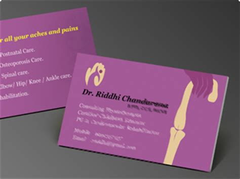 business card design  printing  dental care clinic