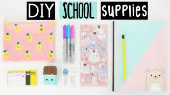 DIY Back to School Supplies YouTube