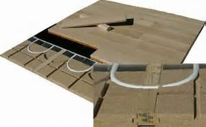 Parquet Sol Chauffant : plancher chauffant sur plancher bois le plancher chauffant par caleosol ~ Melissatoandfro.com Idées de Décoration
