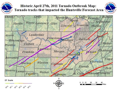 April 27th, 2011 Tornado Tracks