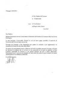 Lettere Dimissioni Volontarie by Lettera Dimissioni Agriturismoarioli