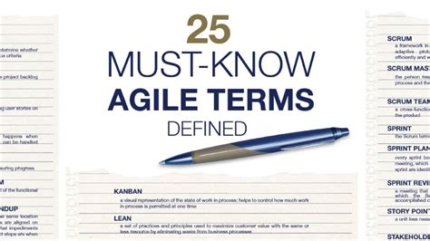 essential agile methodology terms defined villanova