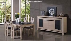 Bahut de salle a manger moderne en bois massif et ceramique for Salle À manger contemporaineavec buffet salle À manger contemporain