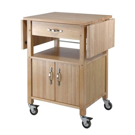 Shop Winsome Wood Brown Farmhouse Kitchen Cart at Lowes.com