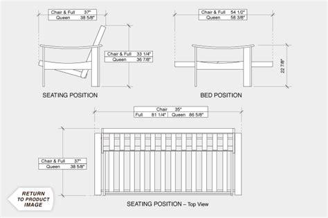 Futon Dimensions by Standard Futon Length Bm Furnititure
