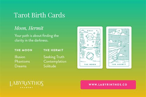 whats  tarot birth card  short birth card meanings labyrinthos