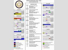 American International School, Riyadh Calendar