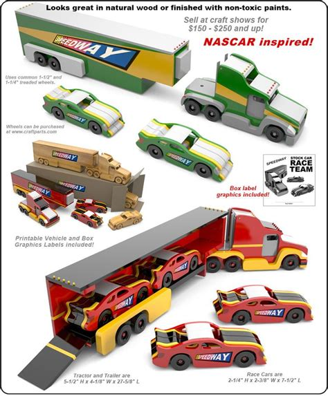 speedway stock car race team nascar inspired wood toy