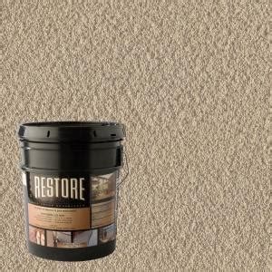 rubberized deck coating home depot restore deck liquid armor resurfacer 4 gal water based