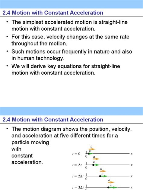 motion With Constant Acceleration Young Freedman ...