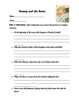 and the beast by jan brett comprehension worksheet