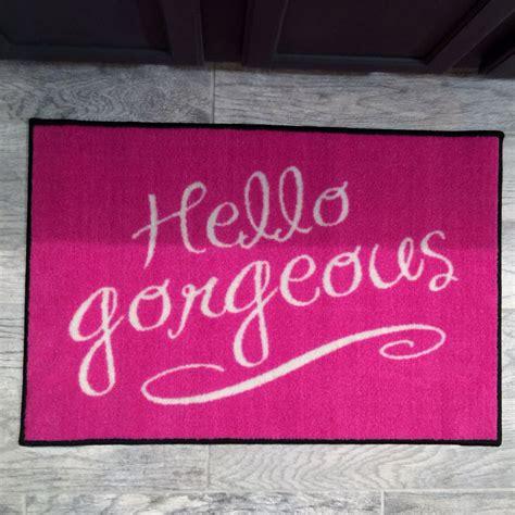 Beautiful Welcome Mats by Hello Gorgeous Pink Door Mat Floormatshop