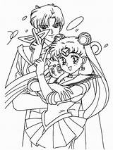Coloring Pages Moon Getcolorings Printable Sailormoon sketch template