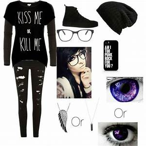 My emo school outfits - Polyvore | Scene Clothes | Pinterest | School outfits Emo and School